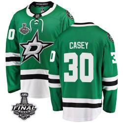 Jon Casey Dallas Stars Men's Fanatics Branded Green Breakaway Home 2020 Stanley Cup Final Bound Jersey