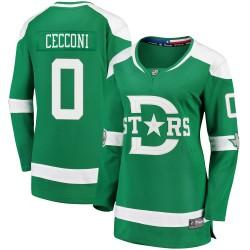 Joseph Cecconi Dallas Stars Women's Fanatics Branded Green 2020 Winter Classic Breakaway Player Jersey