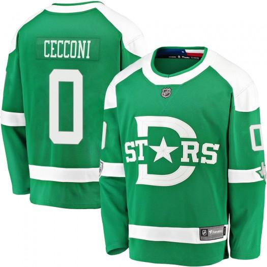 Joseph Cecconi Dallas Stars Youth Fanatics Branded Green 2020 Winter Classic Breakaway Player Jersey