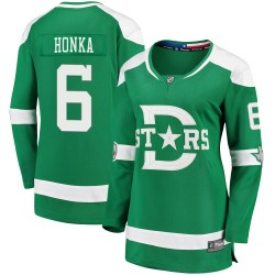 Julius Honka Dallas Stars Women's Fanatics Branded Green 2020 Winter Classic Breakaway Jersey