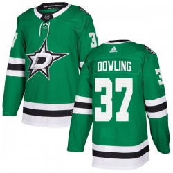 Justin Dowling Dallas Stars Men's Adidas Authentic Green Home Jersey