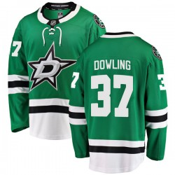 Justin Dowling Dallas Stars Men's Fanatics Branded Green Breakaway Home Jersey