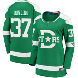 Justin Dowling Dallas Stars Women's Fanatics Branded Green 2020 Winter Classic Breakaway Jersey