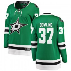 Justin Dowling Dallas Stars Women's Fanatics Branded Green Breakaway Home Jersey