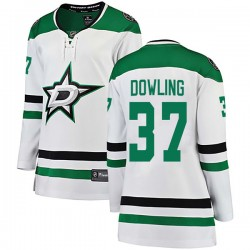 Justin Dowling Dallas Stars Women's Fanatics Branded White Breakaway Away Jersey