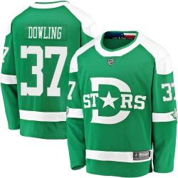 Justin Dowling Dallas Stars Youth Fanatics Branded Green 2020 Winter Classic Breakaway Jersey