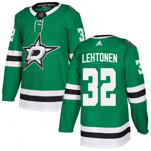 Kari Lehtonen Dallas Stars Men's Adidas Authentic Green Home Jersey