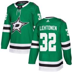 Kari Lehtonen Dallas Stars Youth Adidas Authentic Green Home Jersey