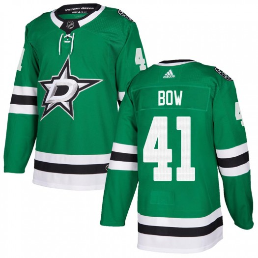 Landon Bow Dallas Stars Men's Adidas Authentic Green Home Jersey