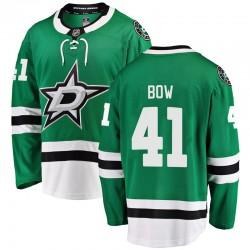 Landon Bow Dallas Stars Men's Fanatics Branded Green Breakaway Home Jersey