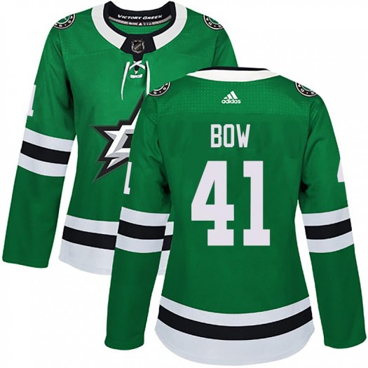 Landon Bow Dallas Stars Women's Adidas Authentic Green Home Jersey