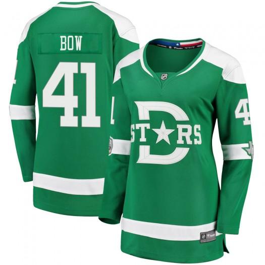 Landon Bow Dallas Stars Women's Fanatics Branded Green 2020 Winter Classic Breakaway Jersey