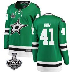 Landon Bow Dallas Stars Women's Fanatics Branded Green Breakaway Home 2020 Stanley Cup Final Bound Jersey