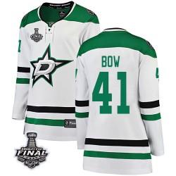 Landon Bow Dallas Stars Women's Fanatics Branded White Breakaway Away 2020 Stanley Cup Final Bound Jersey
