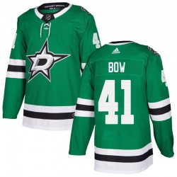 Landon Bow Dallas Stars Youth Adidas Authentic Green Home Jersey