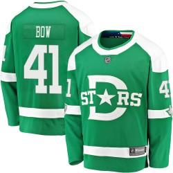 Landon Bow Dallas Stars Youth Fanatics Branded Green 2020 Winter Classic Breakaway Jersey