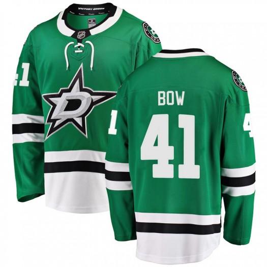 Landon Bow Dallas Stars Youth Fanatics Branded Green Breakaway Home Jersey