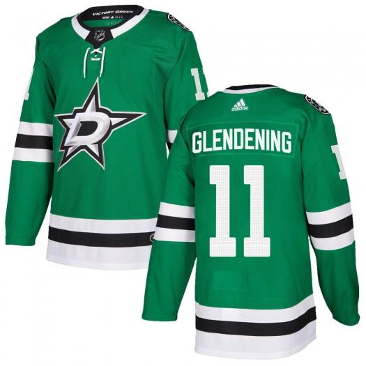 Luke Glendening Dallas Stars Men's Adidas Authentic Green Home Jersey