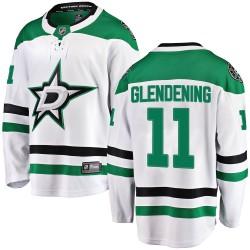 Luke Glendening Dallas Stars Men's Fanatics Branded White Breakaway Away Jersey