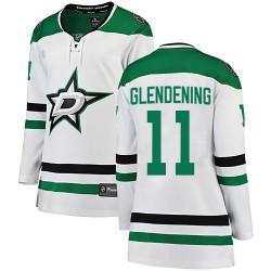 Luke Glendening Dallas Stars Women's Fanatics Branded White Breakaway Away Jersey