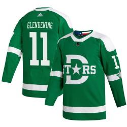 Luke Glendening Dallas Stars Youth Adidas Authentic Green 2020 Winter Classic Player Jersey