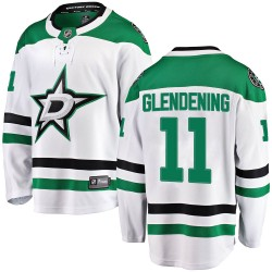 Luke Glendening Dallas Stars Youth Fanatics Branded White Breakaway Away Jersey