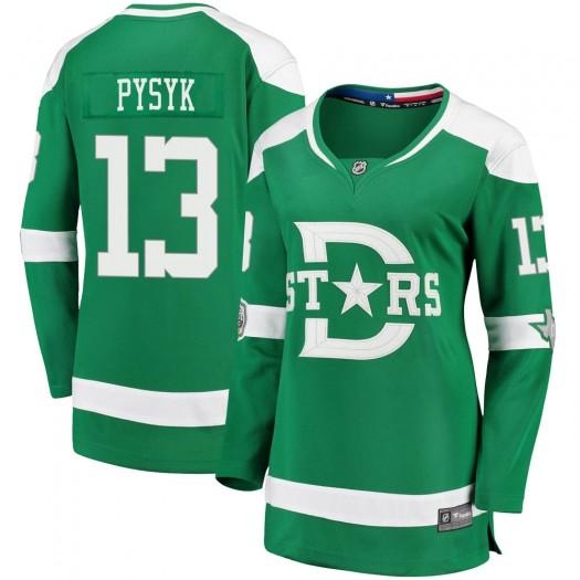 Mark Pysyk Dallas Stars Women's Fanatics Branded Green 2020 Winter Classic Breakaway Player Jersey
