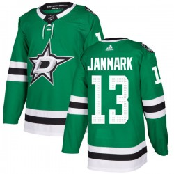 Mattias Janmark Dallas Stars Men's Adidas Authentic Green Kelly Jersey