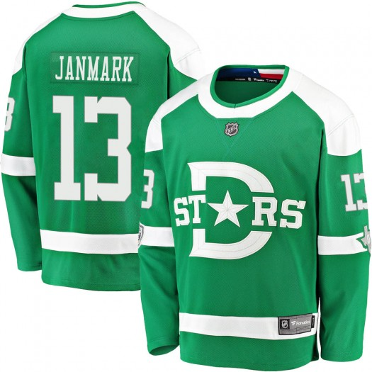 Mattias Janmark Dallas Stars Men's Fanatics Branded Green 2020 Winter Classic Breakaway Jersey