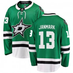 Mattias Janmark Dallas Stars Men's Fanatics Branded Green Breakaway Home Jersey