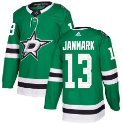 Mattias Janmark Dallas Stars Youth Adidas Authentic Green Home Jersey