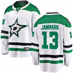 Mattias Janmark Dallas Stars Youth Fanatics Branded White Breakaway Away Jersey