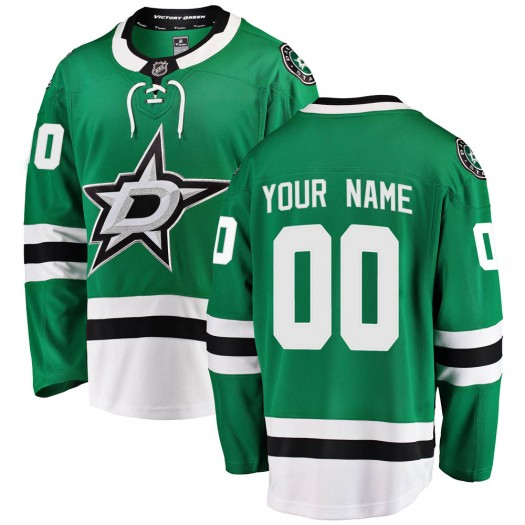 Men's Fanatics Branded Dallas Stars Customized Breakaway Green Home Jersey