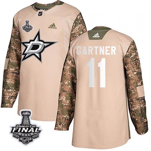 Mike Gartner Dallas Stars Men's Adidas Authentic Camo Veterans Day Practice 2020 Stanley Cup Final Bound Jersey