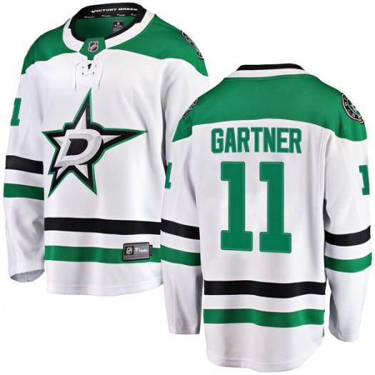Mike Gartner Dallas Stars Men's Fanatics Branded White Breakaway Away Jersey