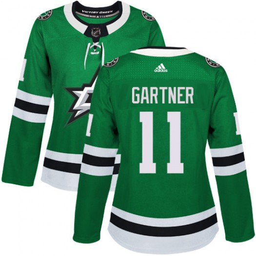 Mike Gartner Dallas Stars Women's Adidas Authentic Green Home Jersey