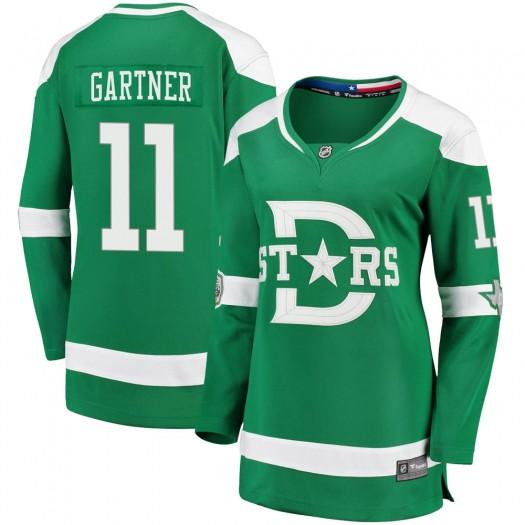 Mike Gartner Dallas Stars Women's Fanatics Branded Green 2020 Winter Classic Breakaway Jersey