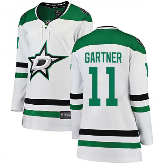 Mike Gartner Dallas Stars Women's Fanatics Branded White Breakaway Away Jersey