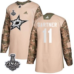 Mike Gartner Dallas Stars Youth Adidas Authentic Camo Veterans Day Practice 2020 Stanley Cup Final Bound Jersey