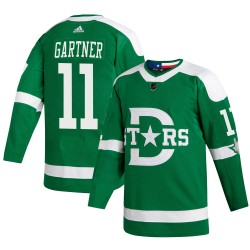 Mike Gartner Dallas Stars Youth Adidas Authentic Green 2020 Winter Classic Jersey