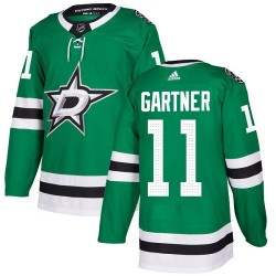 Mike Gartner Dallas Stars Youth Adidas Authentic Green Home Jersey