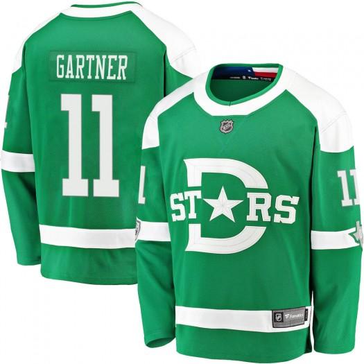 Mike Gartner Dallas Stars Youth Fanatics Branded Green 2020 Winter Classic Breakaway Jersey