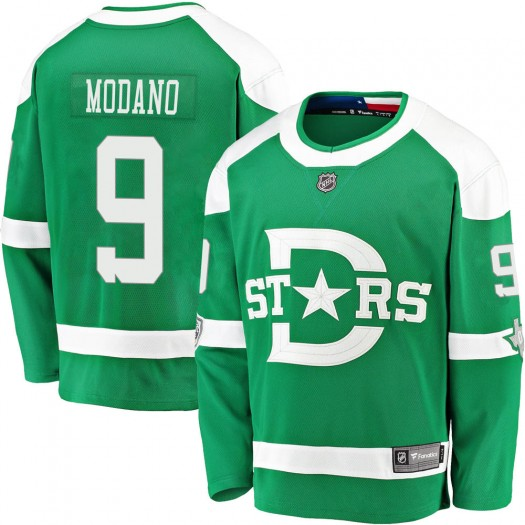 Mike Modano Dallas Stars Men's Fanatics Branded Green 2020 Winter Classic Breakaway Jersey