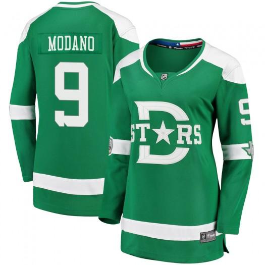 Mike Modano Dallas Stars Women's Fanatics Branded Green 2020 Winter Classic Breakaway Jersey