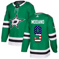 Mike Modano Dallas Stars Youth Adidas Authentic Green USA Flag Fashion Jersey