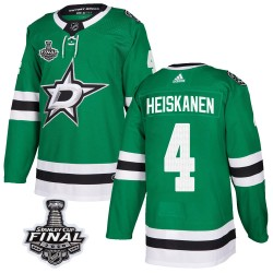 Miro Heiskanen Dallas Stars Men's Adidas Authentic Green Home 2020 Stanley Cup Final Bound Jersey
