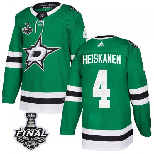 Miro Heiskanen Dallas Stars Men's Adidas Authentic Green Home 2020 Stanley Cup Final Bound Jersey