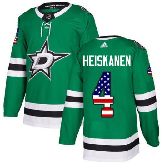 Miro Heiskanen Dallas Stars Men's Adidas Authentic Green USA Flag Fashion Jersey