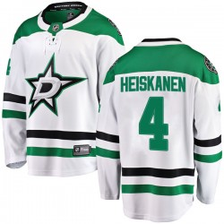 Miro Heiskanen Dallas Stars Men's Fanatics Branded White Breakaway Away Jersey