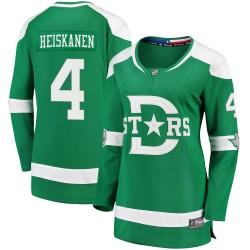 Miro Heiskanen Dallas Stars Women's Fanatics Branded Green 2020 Winter Classic Breakaway Jersey